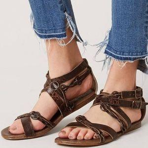 Roan Bed Stu Gretch Braid Strap Distressed Sandals